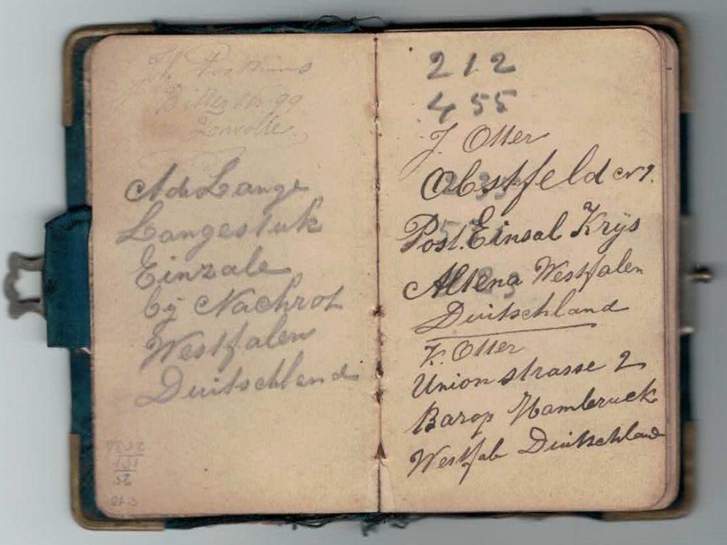 Abraham Posthumus notebook - pg1-2