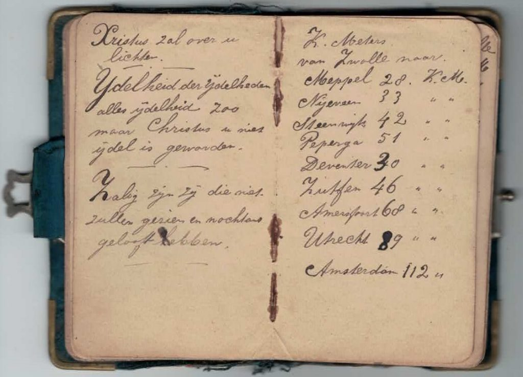 Abraham Posthumus notebook - pg11-12
