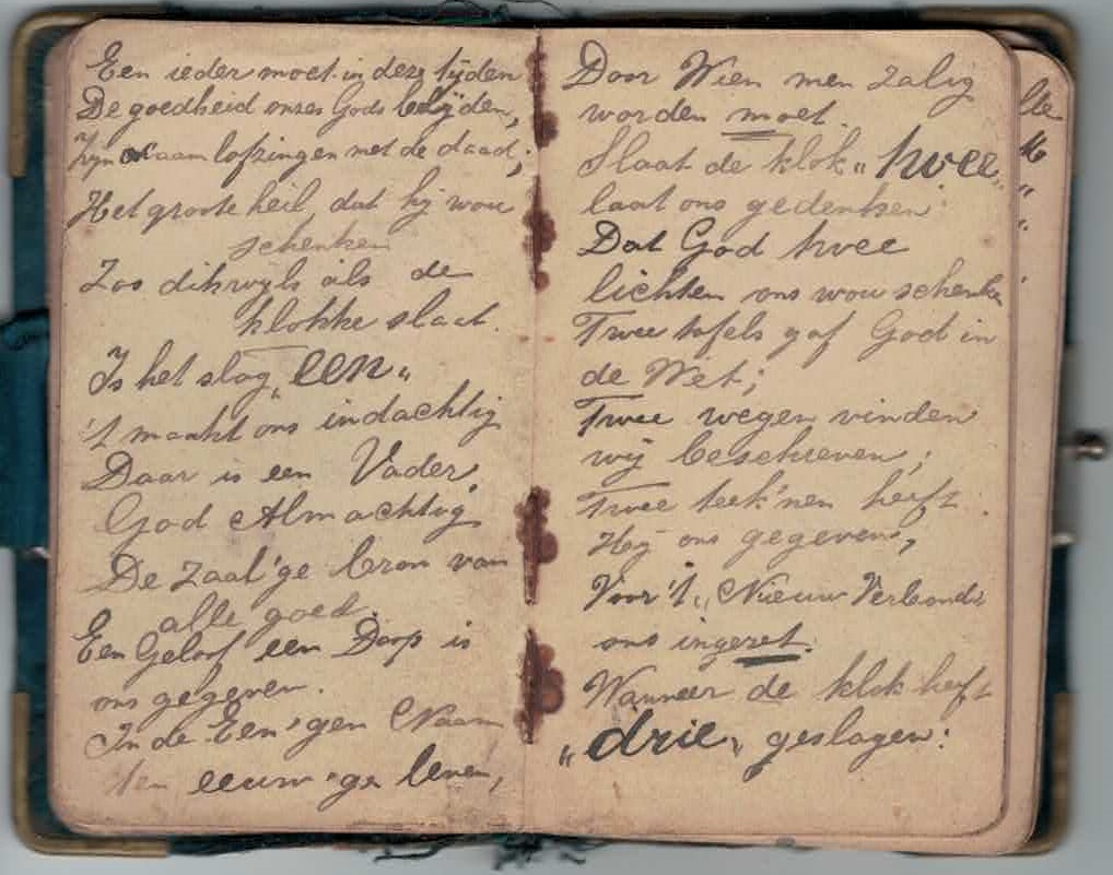 Abraham Posthumus notebook - pg13-14
