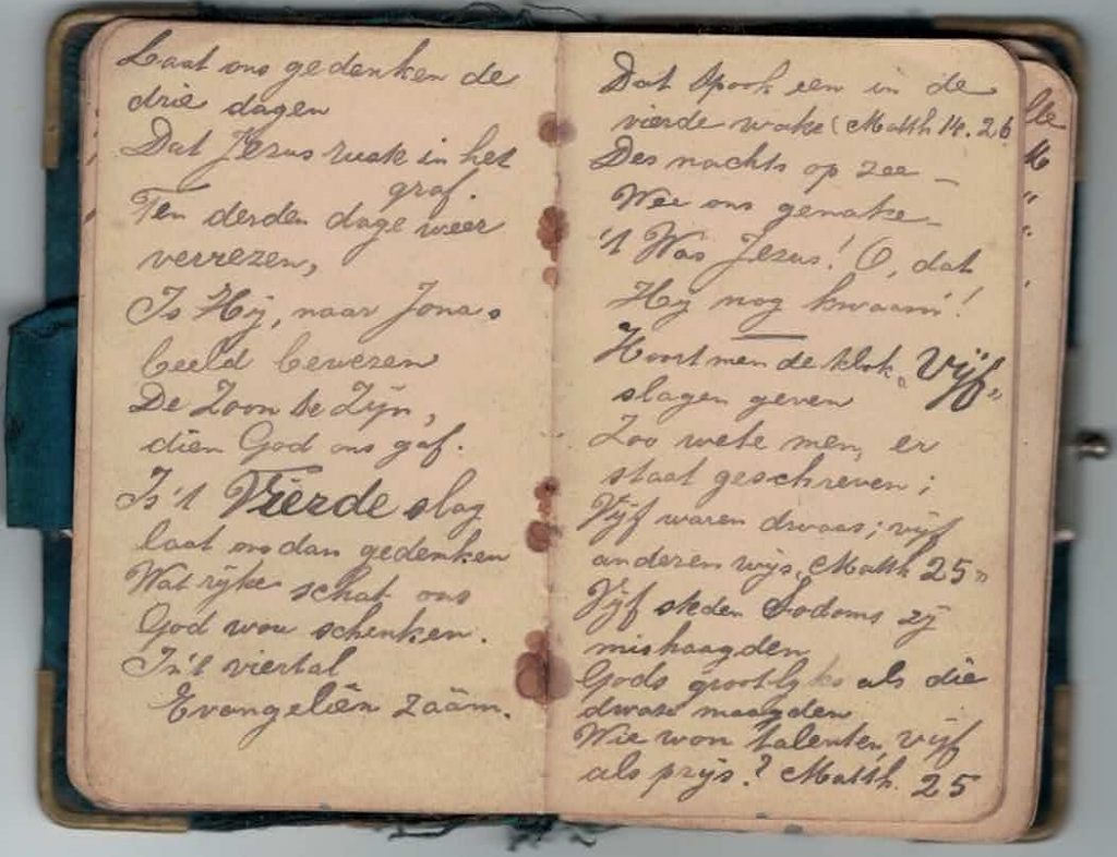 Abraham Posthumus notebook - pg15-16