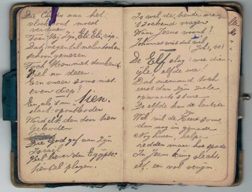 Abraham Posthumus notebook - pg19-20