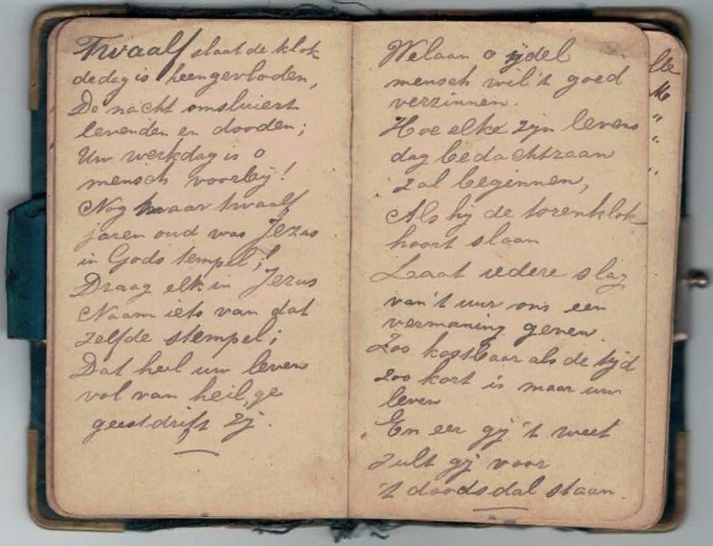Abraham Posthumus notebook - pg21-22