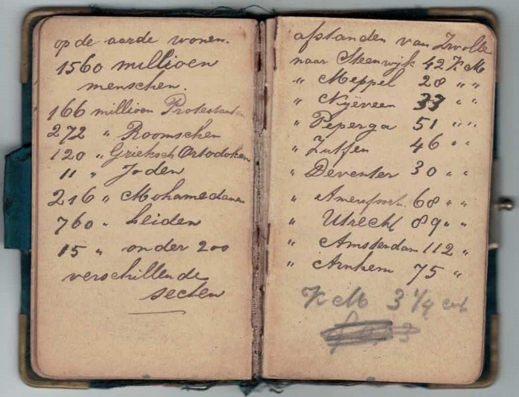 Abraham Posthumus notebook - pg23-24