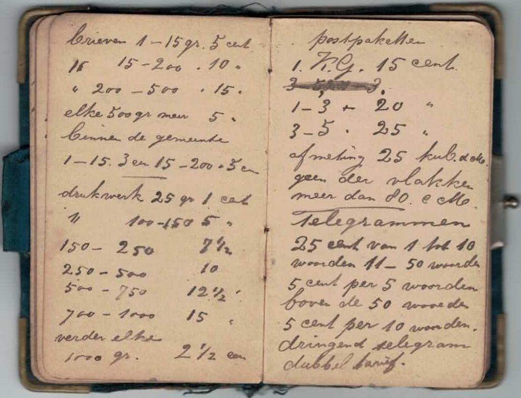 Abraham Posthumus notebook - pg25-26