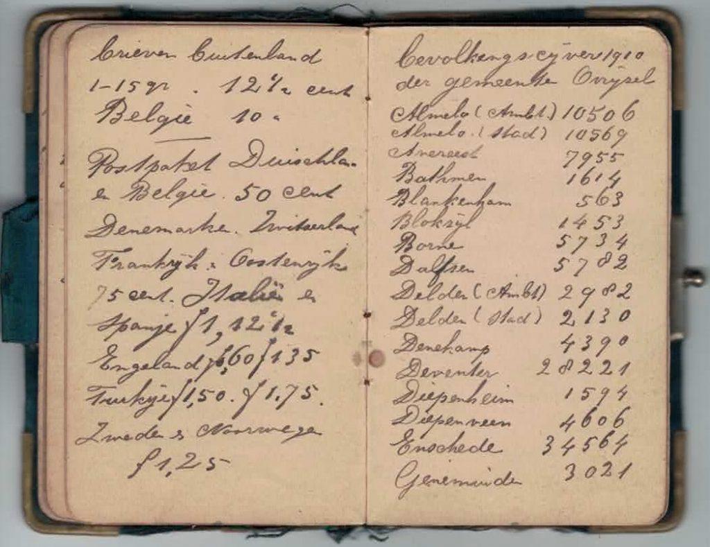 Abraham Posthumus notebook - pg27-28