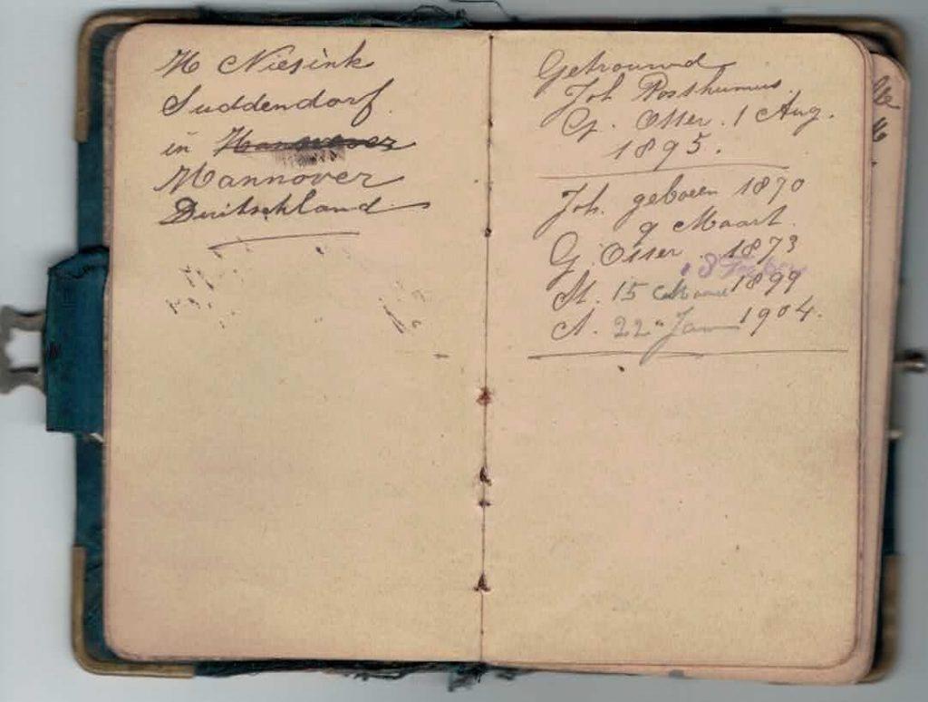 Abraham Posthumus notebook - pg3-4
