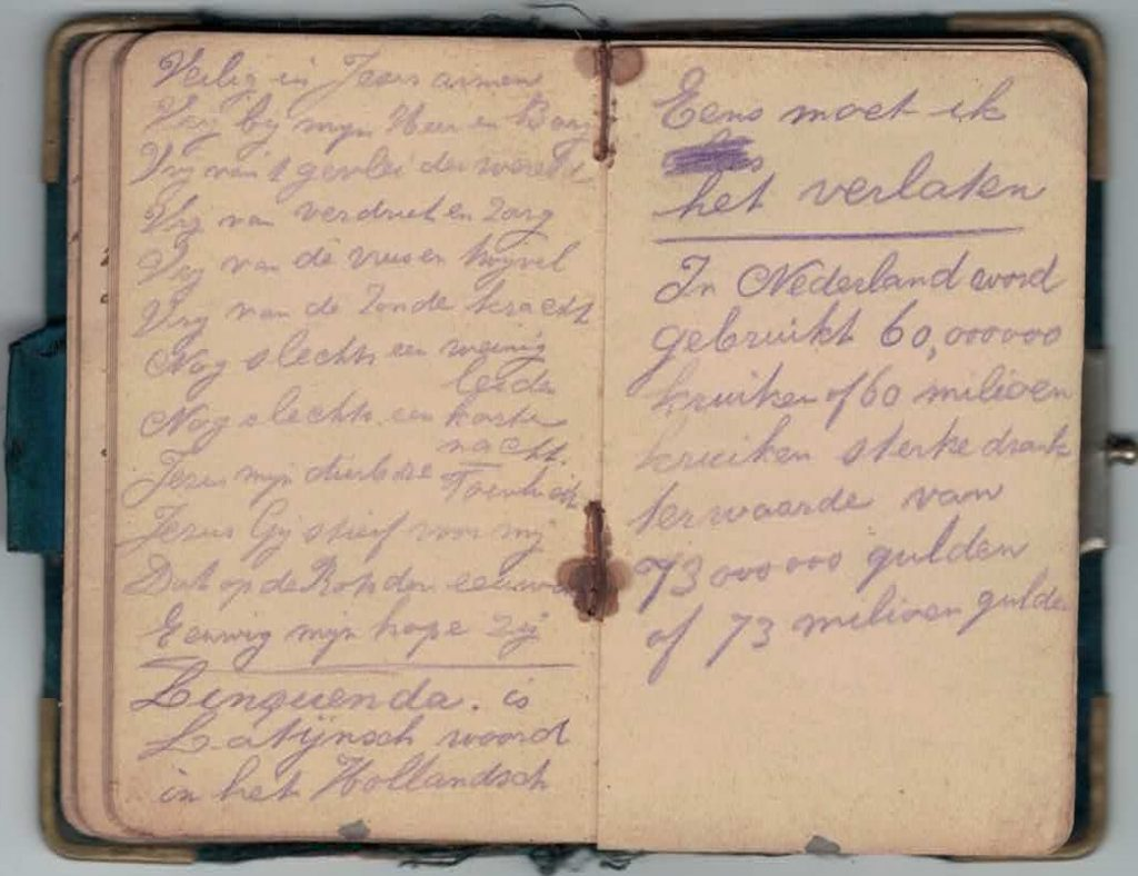Abraham Posthumus notebook - pg33-34