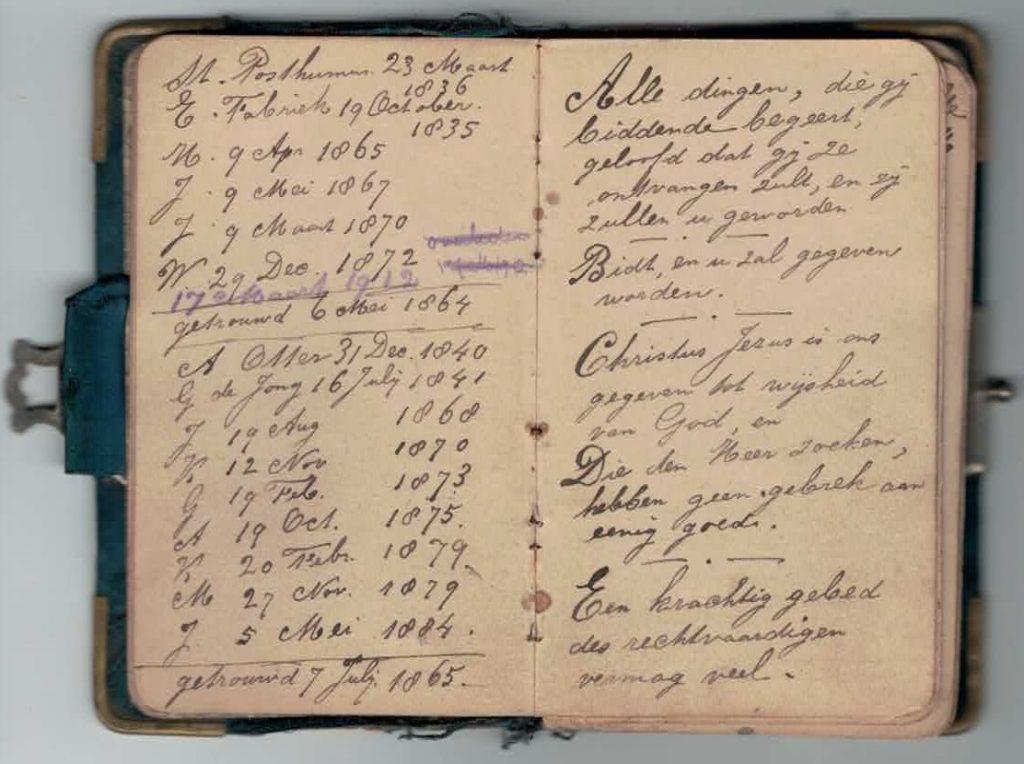 Abraham Posthumus notebook - pg5-6
