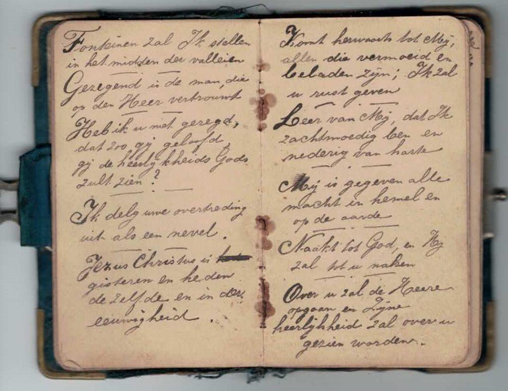 Abraham Posthumus notebook - pg7-8