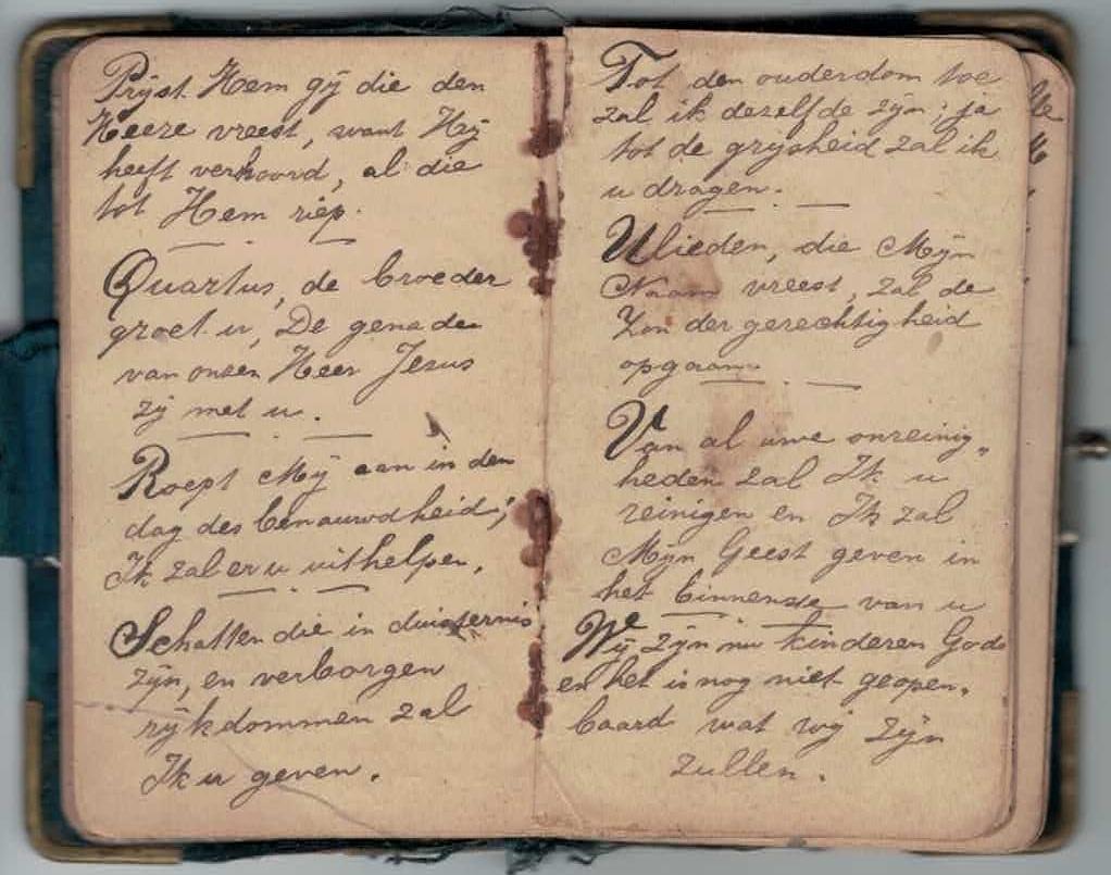 Abraham Posthumus notebook - pg9-10